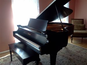 Our 1925 Chjickering grand piano